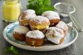 Картинка сладость, выпечка, пончики с ванильным кремом