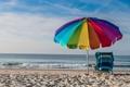 Картинка пейзаж, пляж, зонт, море, лето