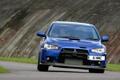 Картинка дорога, синий, скорость, тачки, mitsubishi, синие, lancer