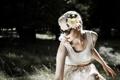 Картинка цветок, девушка, очки, блондинка
