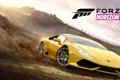 Картинка машина, небо, деревья, жёлтый, земля, дым, Lamborghini