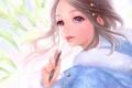 Картинка девушка, цветы, арт, ручка, калы, airspace