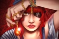 Картинка взгляд, девушка, лицо, рука, майка, арт, пират