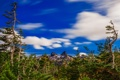 Картинка облака, деревья, горы