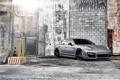 Картинка серый, стена, сетка, забор, Porsche, Panamera, порше