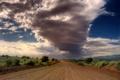 Картинка дорога, небо, облака, пустыня