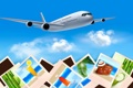 Картинка самолет, путешествие, открытка