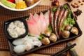 Картинка рыба, креветки, морепродукты, японская кухня, блюда, кальмары, бадьян