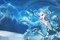 Картинка холод, девушка, снежинки, крылья, арт, кристаллы, touhou