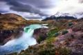 Картинка горы, природа, река, водопадик