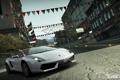 Картинка дорога, улица, Lamborghini, World, Gallardo, флажки, Need for speed