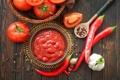 Картинка перец, помидоры, соус, томаты, кетчуп, специи, чеснок