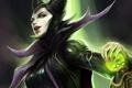 Картинка сфера, Малефисента, Maleficent, посох, арт, магия, девушка