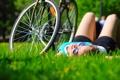 Картинка лето, девушка, bike