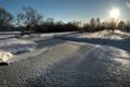 Картинка зима, пейзаж, снег, небо