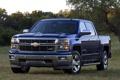 Картинка синий, Chevrolet, Шевроле, пикап, передок, Crew Cab, Silverado