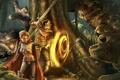 Картинка магия, меч, воин, монстры, волшебница, neverwinter, nights