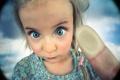 Картинка макро, палец, девочка, отпечаток