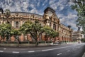 Картинка дорога, деревья, Argentina, дворец, Аргентина, Буэнос-Айрес, Buenos Aires