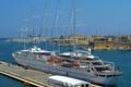 Картинка Мальта, скалы, небо, причал, крепость, город, парусник