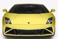 Картинка Lamborghini, вид спереди, желтая, ламборгини, галлардо, Gallardo LP560-4