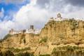 Картинка скала, гора, дома, Испания, Андалусия, Аркос-де-ла-Фронтера