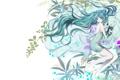 Картинка девушка, цветы, арт, vocaloid, hatsune miku, mariwai, marireroy