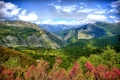 Картинка горы, обработка, долина, ущелье, Испания, леса, Asturias