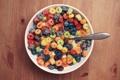 Картинка завтрак, молоко, тарелка, ложка
