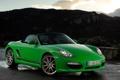 Картинка зелёный, Porsche, бокстер, green, передок, порше, Boxster S