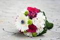 Картинка белые, розы, лиловые, розовые, герберы, букет, цветы