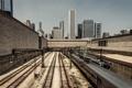 Картинка небоскребы, железная дорога, поезда, USA, чикаго, Chicago, illinois