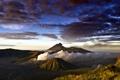 Картинка небо, облака, вулкан, ява, bromo