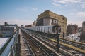 Картинка зима, снег, город, Нью-Йорк, поезда, Соединенные Штаты, городской