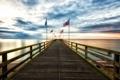 Картинка пейзаж, мост, флаги