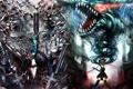 Картинка оружие, девушки, дракон, аниме, арт, цепи, vocaloid