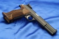 Картинка wood, blue, Weapons, sig sauer p210 pistol