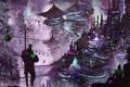 Картинка свет, ночь, город, фантастика, art