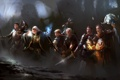 Картинка путешественники, приключения, темно, воины, отряд