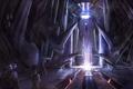 Картинка здание, луч, существо, арт, cloudminedesign, Halo 4
