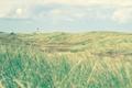 Картинка поле, трава, облака, маяк
