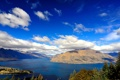 Картинка облака, пейзаж, горы, природа, озеро, lake, wakatipu