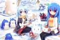 Картинка аниме, арт, Fate Stay Night, Hatsune Miku, Vocaloid, Вокалоид, Shakugan no Shana