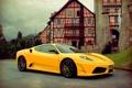 Картинка ferrari, f430, yellow, scuderia