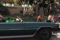 Картинка машина, улица, банды, Grand Theft Auto V, Франклин, Grove Street, Ballas