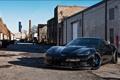 Картинка чёрный, corvette, переулок, шевроле, black, чикаго, chevrolet