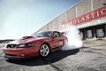 Картинка дым, mustang, мустанг, дрифт, америка, ford, форд