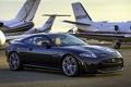 Картинка самолёты, Ягуар, ИксКей, передок, чёрный, Jaguar, XKR-S