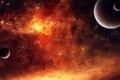 Картинка космос, планеты, звёзды