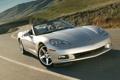 Картинка холмы, девушка, передок, кабриолет, шевроле, corvette, Chevrolet